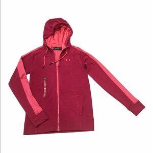 Under Armour Breathable Pink Full Zip Hoodie